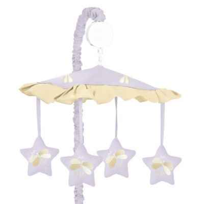 Sweet Jojo Designs Dragonfly Dreams Collection Musical Mobile in Purple