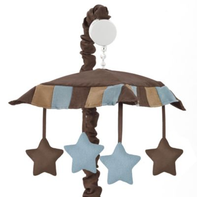 Sweet Jojo Designs Soho Musical Mobile in Blue/Brown