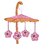 Sweet Jojo Designs Pink and Orange Surf Collection Musical Mobile