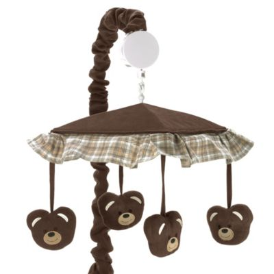 Sweet Jojo Designs Teddy Bear Chocolate Musical Mobile