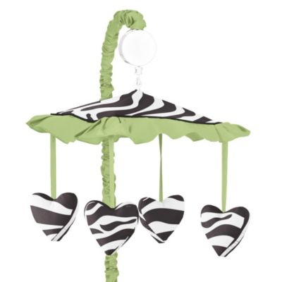 Sweet Jojo Designs Lime Zebra Musical Mobile in Lime