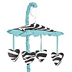 Sweet Jojo Designs Zebra Collection Musical Mobile in Turquoise