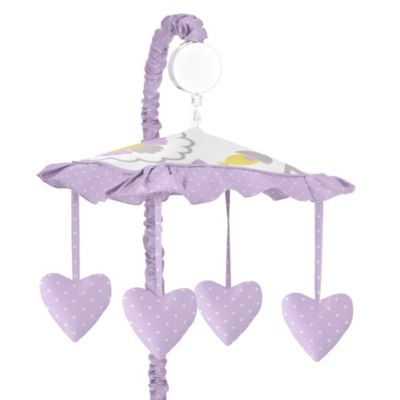 Sweet Jojo Designs Suzanna Musical Mobile in Lavender/White