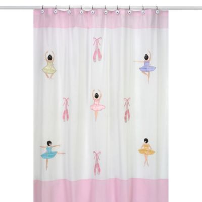 Sweet Jojo Designs Ballerina Collection Shower Curtain