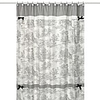 Sweet Jojo Designs Black French Toile Collection Shower Curtain