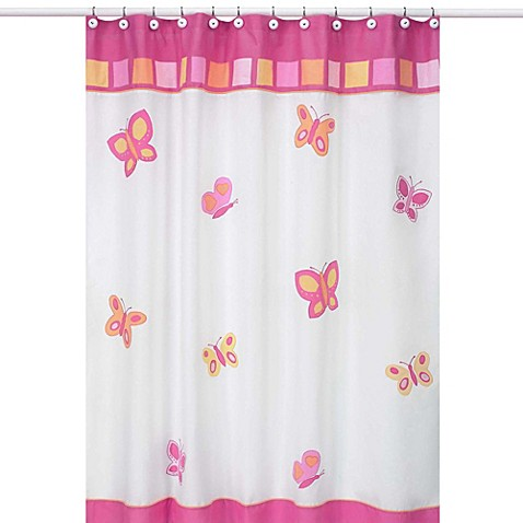 Buy sweet jojo designs pink and orange butterfly for Sweet jojo designs bathroom
