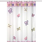 Sweet Jojo Designs Pink and Purple Butterfly Collection Shower Curtain