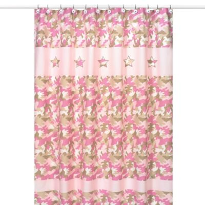 Pink Kids Bath Shower Curtain