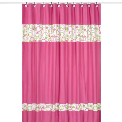 Green Pink Curtains