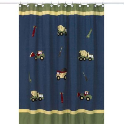 Sweet Jojo Designs Construction Zone Collection Shower Curtain