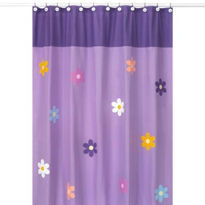 Sweet Jojo Designs Danielle's Daisies Collection Shower Curtain