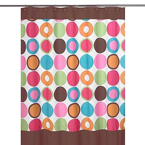Buy sweet jojo designs deco dot collection shower curtain for Sweet jojo designs bathroom