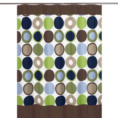 Designer Dot Collection Shower Curtain