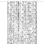 Sweet Jojo Designs Grey and White Diamond Collection Shower Curtain