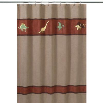 Sweet Jojo Designs Dinosaur Land Collection Shower Curtain