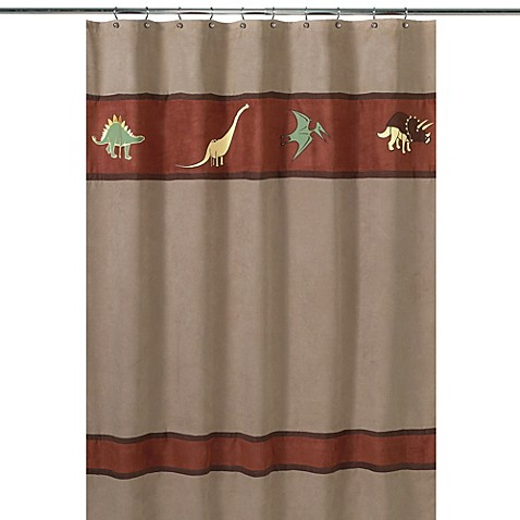 Buy Sweet Jojo Designs Dinosaur Land Collection Shower Curtain From Bed Bath Beyond