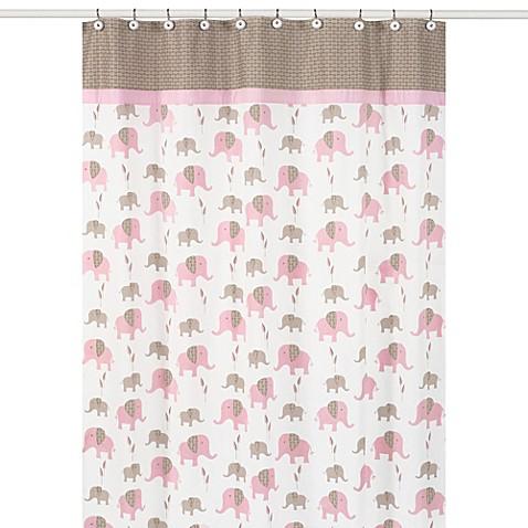 Buy sweet jojo designs pink and taupe mod elephant for Sweet jojo designs bathroom