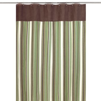 Brown Green Shower Curtain