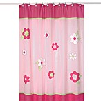 Sweet Jojo Designs 72-Inch x 72-Inch Pink and Green Flower Collection Shower Curtain