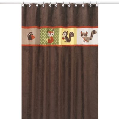 Cotton Chocolate Shower Curtain