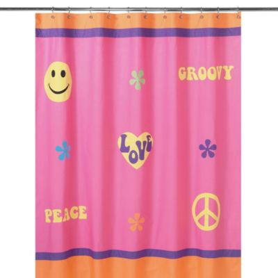 Sweet Jojo Designs Groovy Collection Shower Curtain
