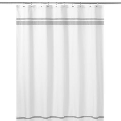 Hotel Shower Curtain in Grey