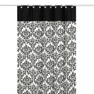 Sweet Jojo Designs 72-Inch x 72-Inch Isabella Shower Curtain in Black/White