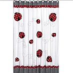 Sweet Jojo Designs Little Ladybug Shower Curtain