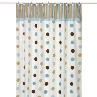 Blue Dot Shower Curtain