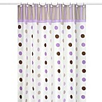 Sweet Jojo Designs Mod Dots Shower Curtain in Purple