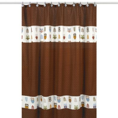 Sweet Jojo Designs Night Owl Shower Curtain