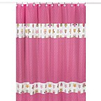 Sweet Jojo Designs Happy Owl Shower Curtain in Pink
