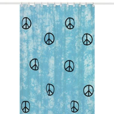 Sweet Jojo Designs Peace Out Shower Curtain in Blue