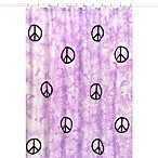 Sweet Jojo Designs Peace Out Shower Curtain in Purple