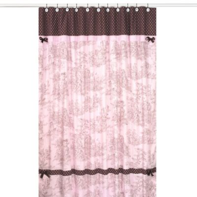 Pink French Shower Curtain