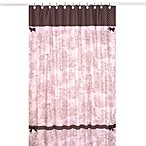 Sweet Jojo Designs Toile Shower Curtain in Pink and Brown