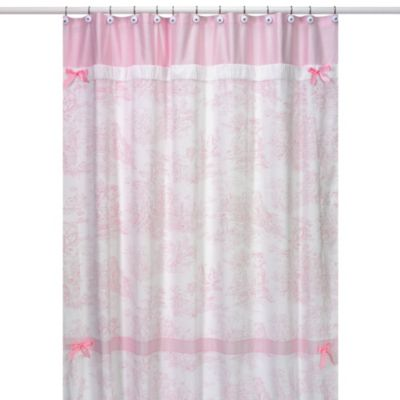 Pink Polka Dot Shower Curtain