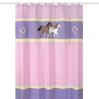 Sweet Jojo Designs Pretty Pony Shower Curtain