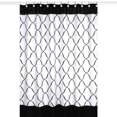 Black and White Kids Shower Curtains