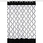 Sweet Jojo Designs Princess Shower Curtain in Black, White, and Purple