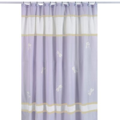 Sweet Jojo Designs Dragonfly Dreams Shower Curtain in Purple