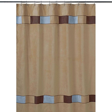 Kids bath decor sweet jojo designs soho shower curtain for Blue brown bathroom decor