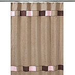 Sweet Jojo Designs Soho Shower Curtain in Brown and Pink
