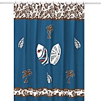 Sweet Jojo Designs Surf Shower Curtain in Blue and Brown