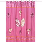 Sweet Jojo Designs Surf Shower Curtain in Pink and Orange