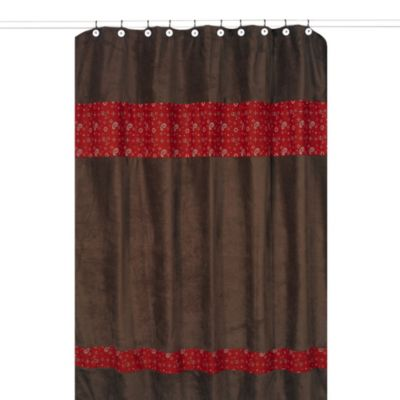 Sweet Jojo Designs Wild West Cowboy Shower Curtain in Brown