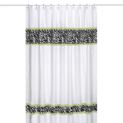 Sweet Jojo Designs Funky Zebra Shower Curtain in Lime