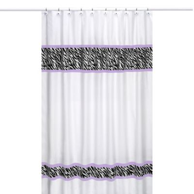 Sweet Jojo Designs Funky Zebra Shower Curtain in Purple