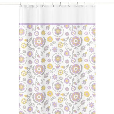 Floral Shower Curtains with Lavender