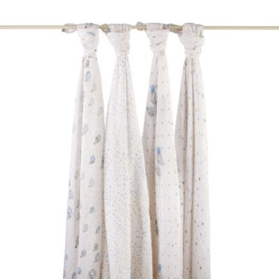 aden + anais® Classic 4-Pack Muslin Swaddles in Night Sky